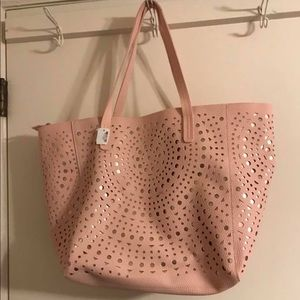 Bath and body works pink tote